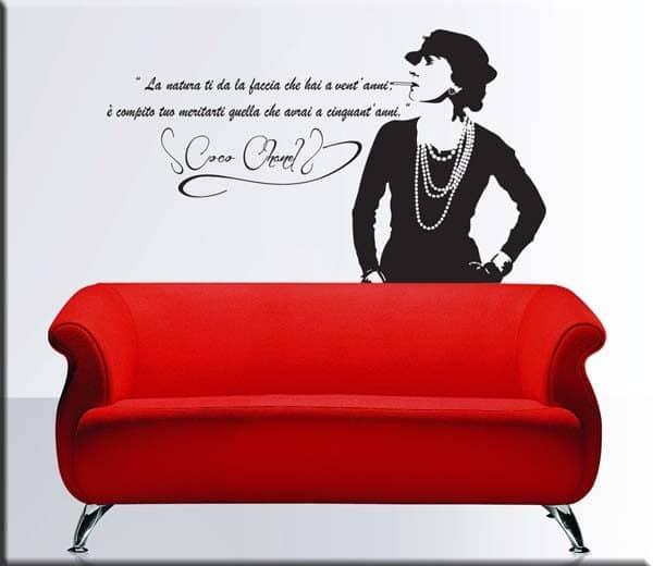 adesivi murali frase citazione coco chanel