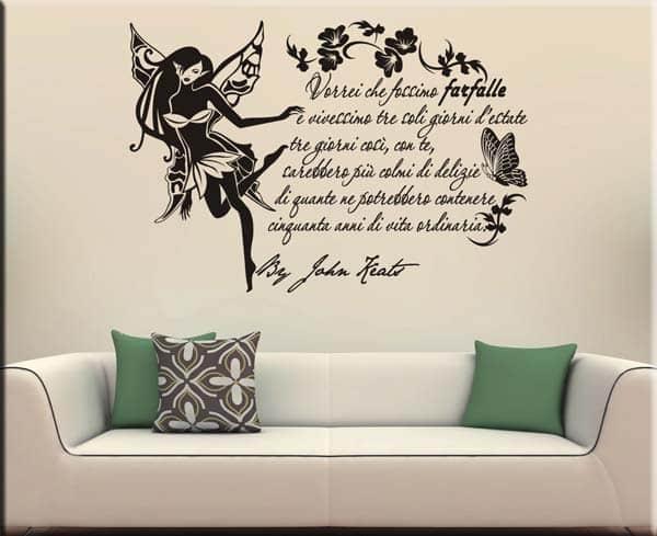 Adesivi murali frase citazione John Keats