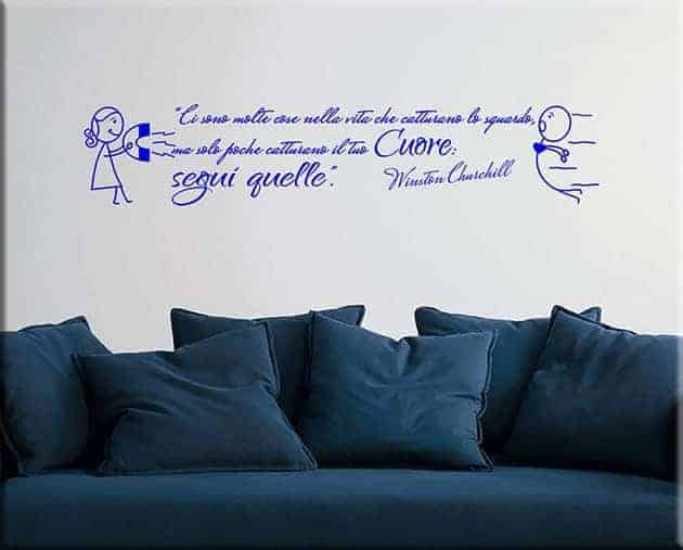 adesivi murali frase citazione winston churchill