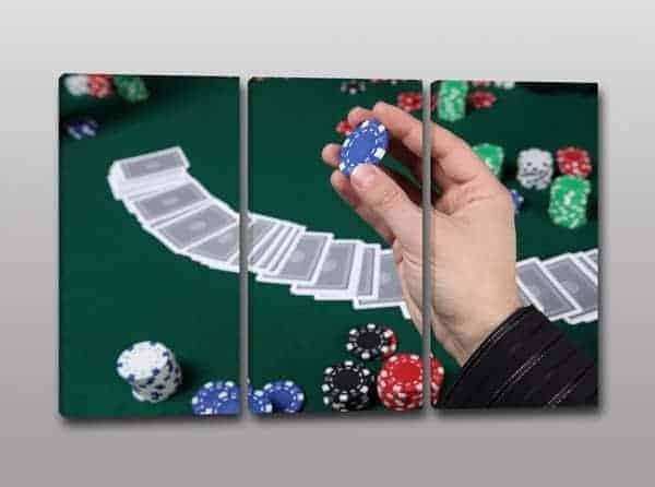 quadri moderni poker bar fiches arredo