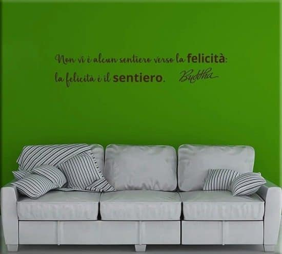 adesivi da parete frase citazione Buddha arredo