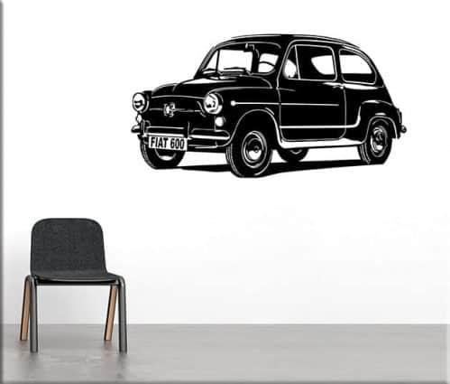 adesivi murali auto fiat 600