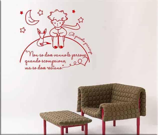 adesivi murali frase il piccolo principe