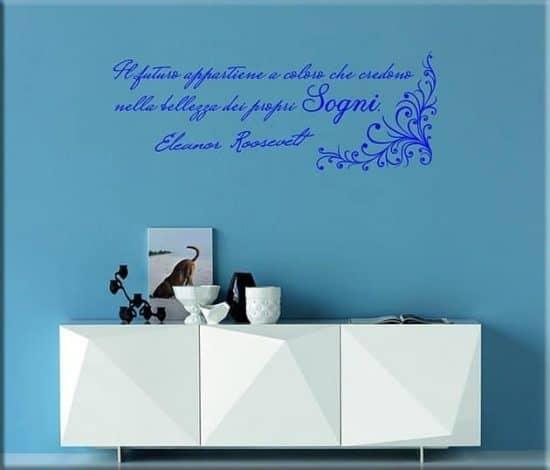 decorazione adesive murali frase eleanor roosevelt