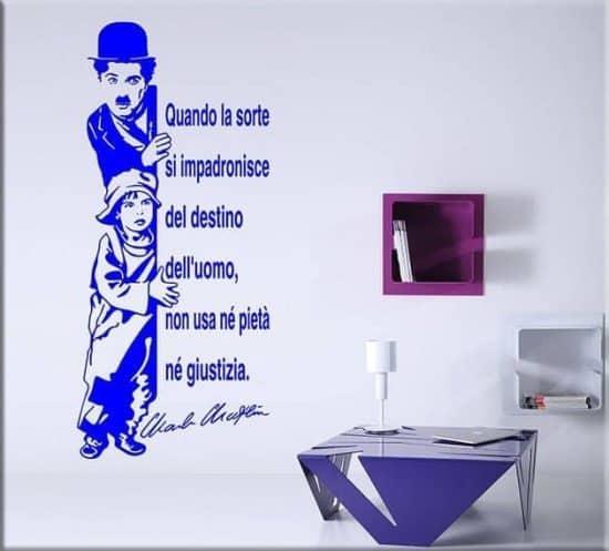 decorazioni adesive murali citazione charlie chaplin