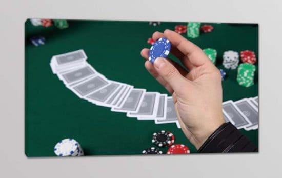 quadro moderno poker bar fiches arredo