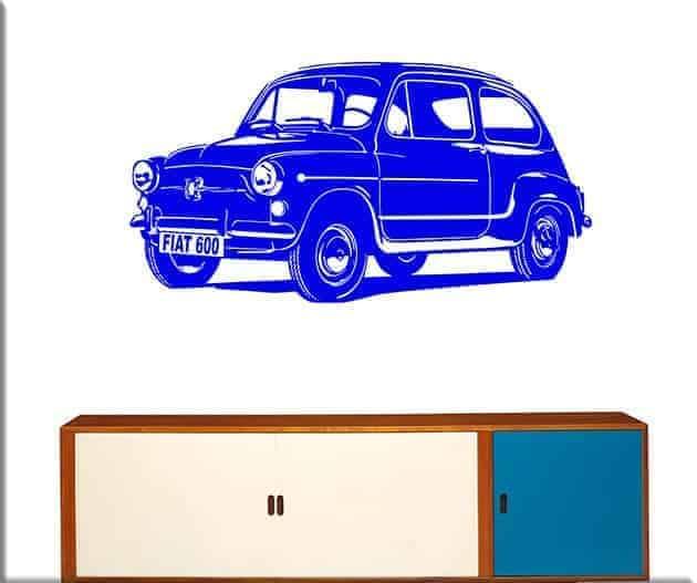 wall stickers auto fiat 600