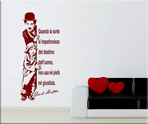 wall stickers citazione charlie chaplin