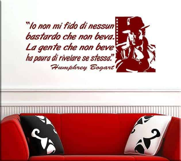 wall stickers frase humphrey bogart bar