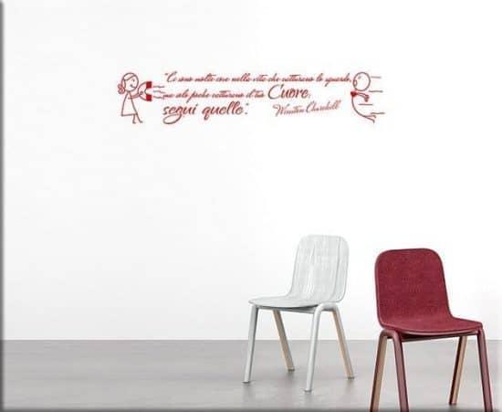 wall stickers frase citazione churchill