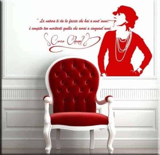 wall stickers frase citazione coco chanel