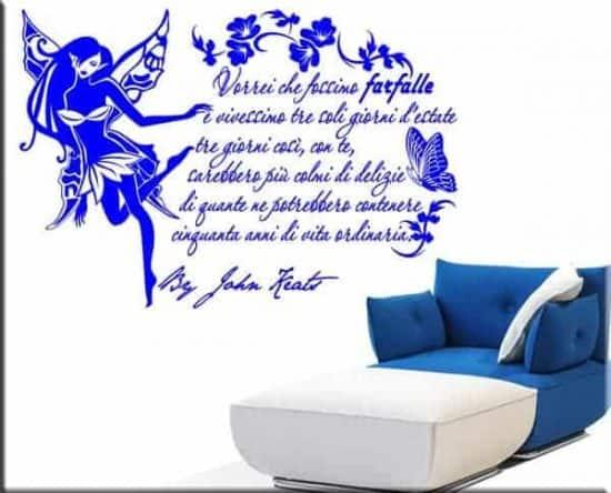 wall stickers frase citazione john keats