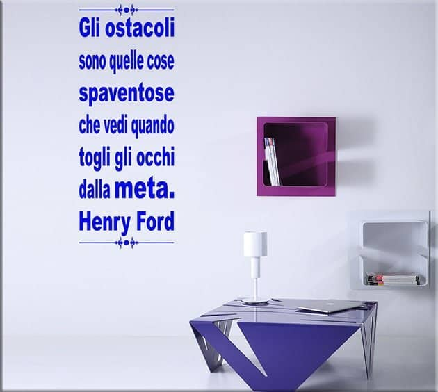 wall stickers frase citazione henry ford