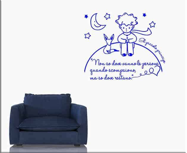 wall stickers frase il piccolo principe