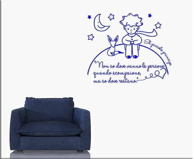 wall stickers frase il piccolo principe
