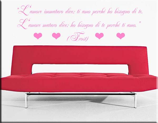 adesivi da parete frase robert frost amore