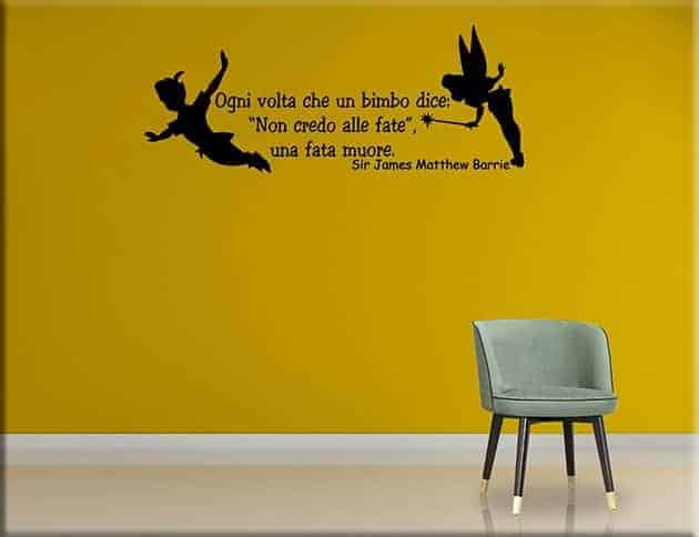 Wall stickers frase peter pan arredo camerette - Wall stickers camerette ...