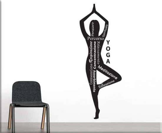 adesivi murali yoga posizione meditazione