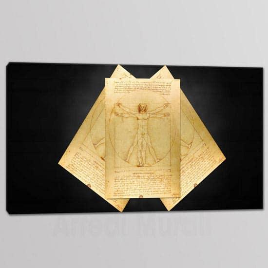 quadro 1 tela riproduzione uomo vitruviano di Leonardo Da Vinci
