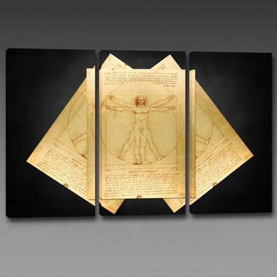 quadri riproduzione uomo vitruviano di Leonardo Da Vinci