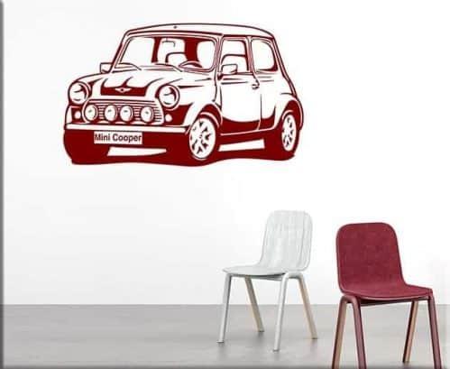 adesivi da parete auto mini cooper