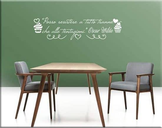 adesivi da parete citazione Oscar Wilde cucina