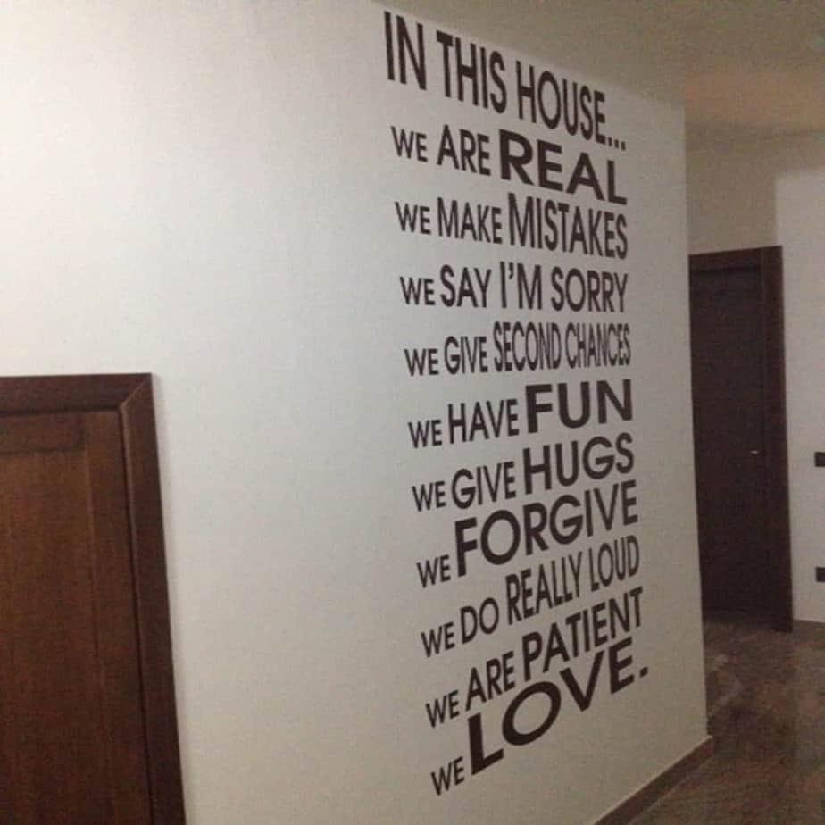 adesivi da parete citazioni