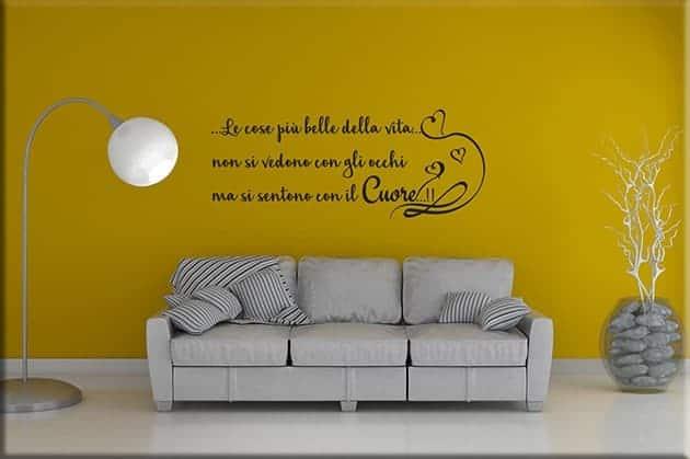 adesivi da parete frase cuore decorazione