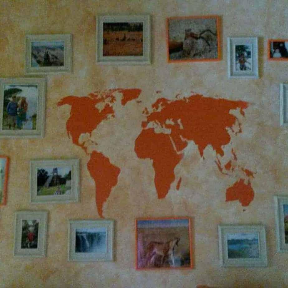 adesivi da parete planisfero