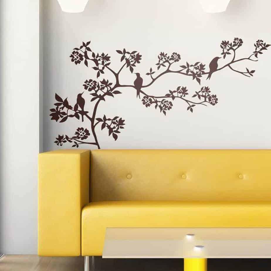 adesivi da parete ramo albero