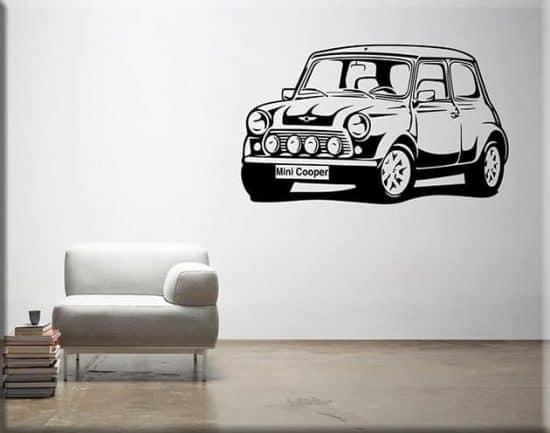 adesivi murali auto mini cooper