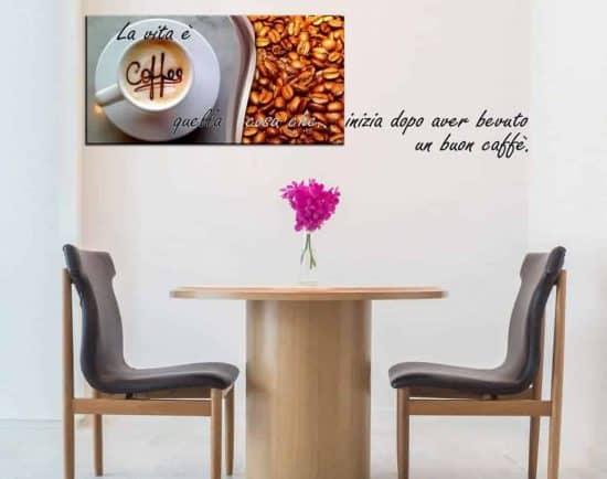 adesivi murali caffè quadro moderno bar
