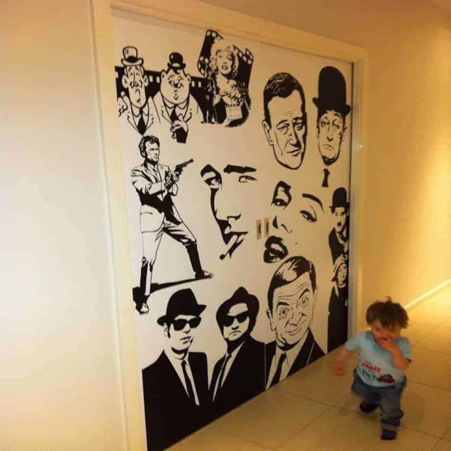 adesivi murali cinema