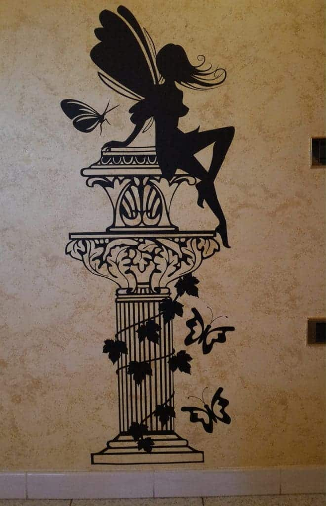adesivi murali fata