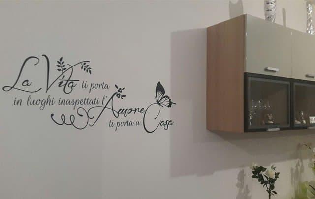 adesivi murali frase da parete