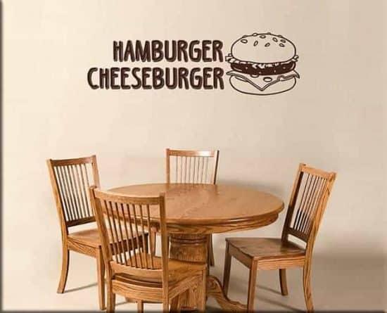 adesivi murali hamburger cheeseburger fast food