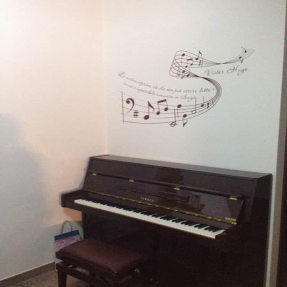 adesivi murali musica pentagramma