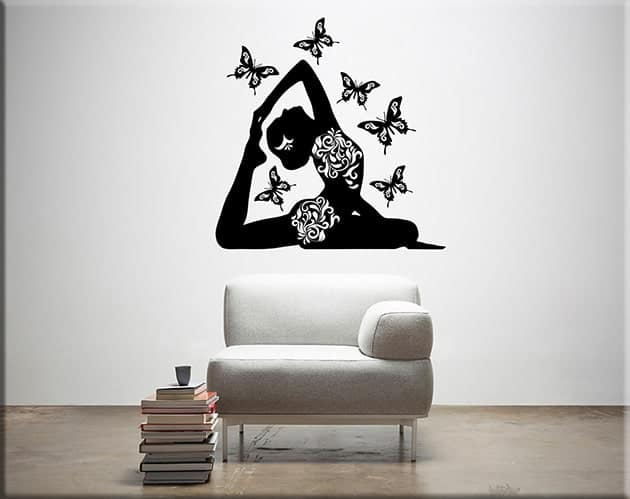 adesivi-murali-posizione-yoga-farfalle