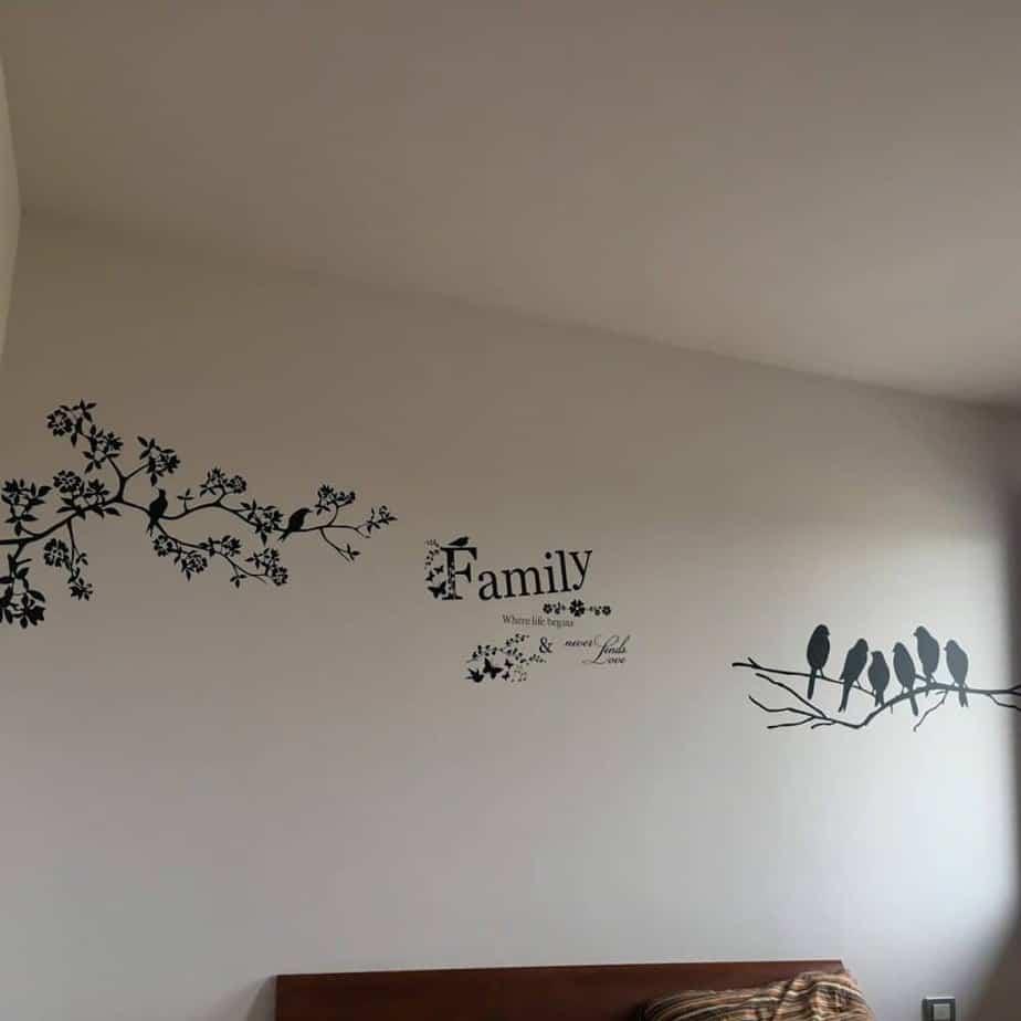 adesivi murali uccelli natura