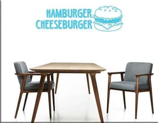 decorazioni adesive hamburger cheeseburger fast food