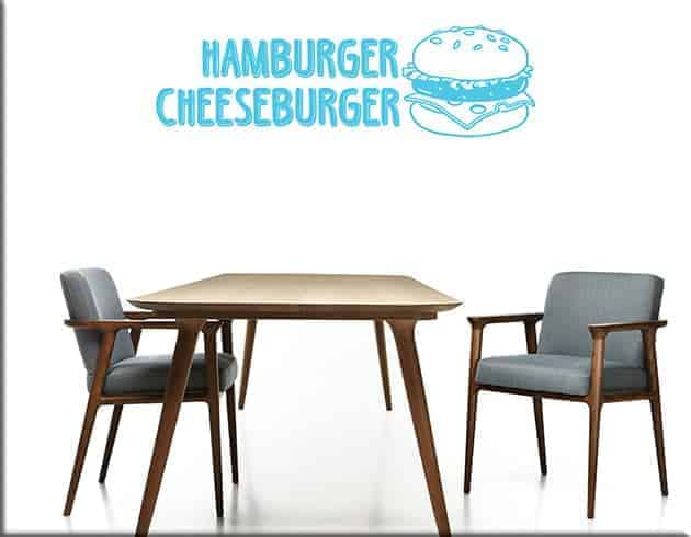 decorazioni adesive hamburger cheeseburger fast food
