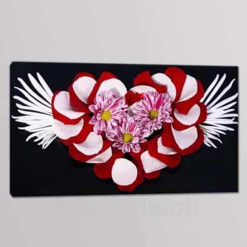 quadri moderni floreali in arte digitale tela singola