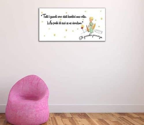 quadro moderno frase il piccolo principe