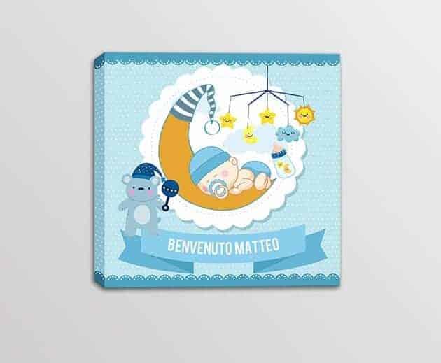 quadro moderno personalizzato nascita bambino