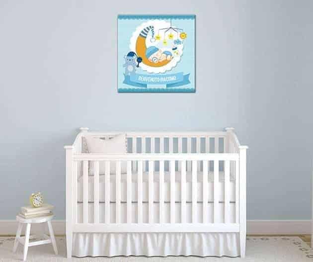 quadro moderno personalizzato nascita bimbo