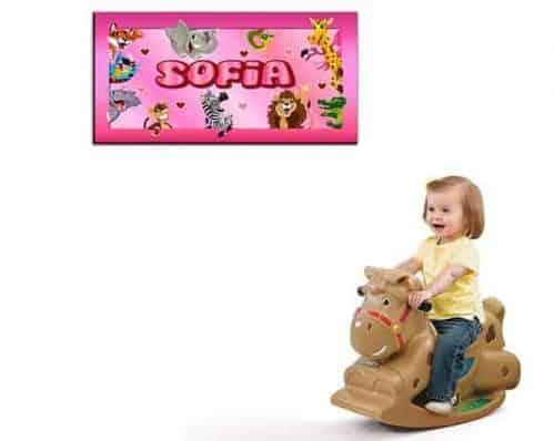 quadro moderno personalizzato nome bambina