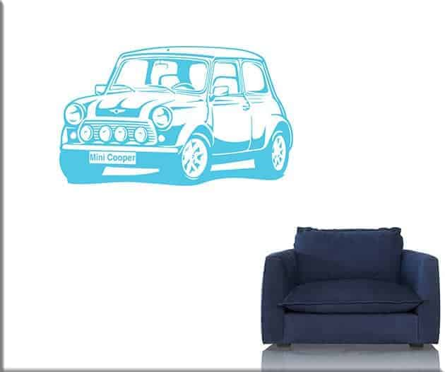 wall stickers auto mini cooper