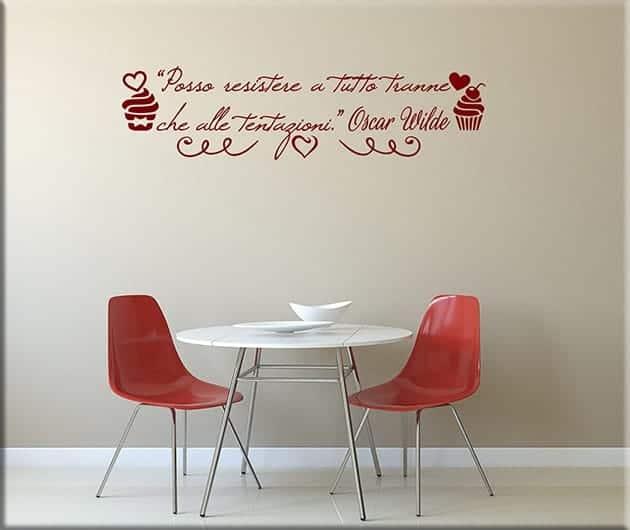Adesivi murali citazione oscar wilde cucina for Stickers murali cucina