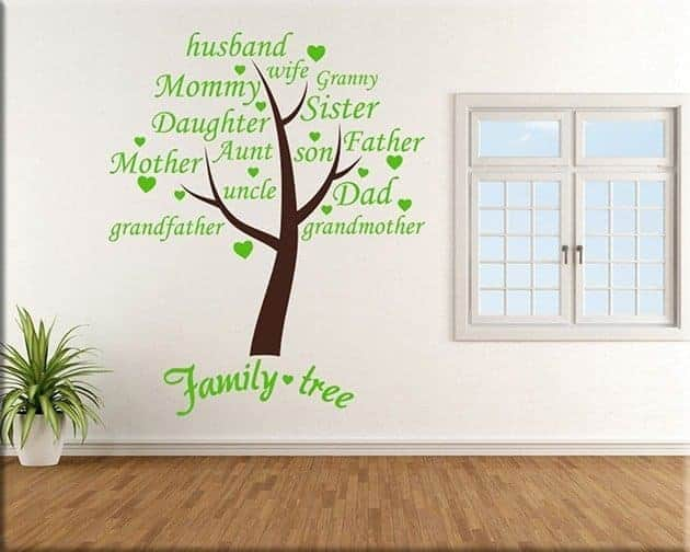wall stickers family tree arredo