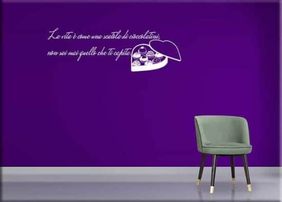 wall stickers frase Forrest Gump